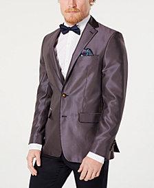 Tallia Orange Men's Slim-Fit Navy/Orange Dot Pattern Dinner Jacket