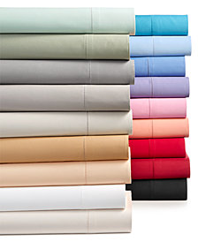 Charter Club Damask Solid Sheets, 550 Thread Count 100% Supima Cotton, Created for Macy's