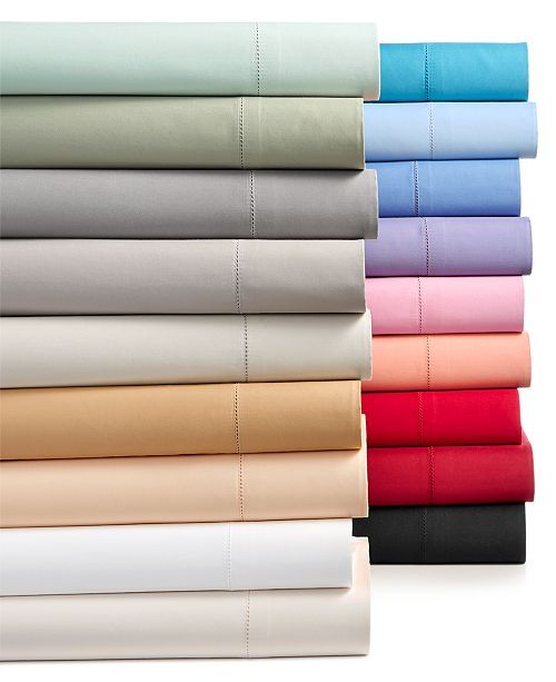 Charter Club Solid Sheet Sets, 550 Thread Count 100% Supima Cotton, Created for Macy's