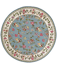 """KAS Colonial Floral 7'6"""" Round Area Rug"""