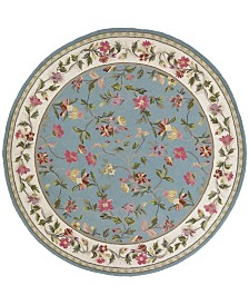 "KAS Colonial Floral 7'6"" Round Area Rug"