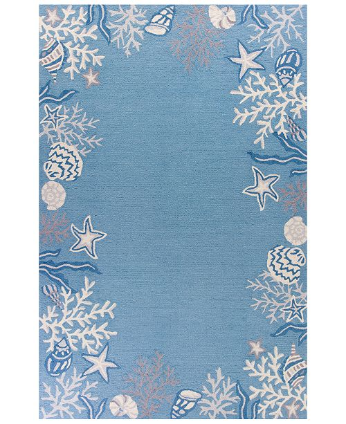 "Kas Sonesta Coastal 2024 Sea Blue 5' x 7'6"" Area Rug"