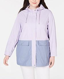Plus Size Swing Rain Parka Jacket