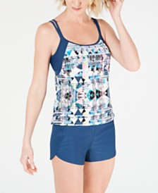 GO by Gossip Layered Tankini Top & Swim Shorts