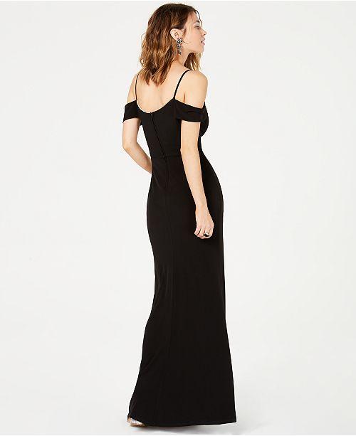 d73848b01b10 City Studios Juniors  Off-The-Shoulder Gown   Reviews - Dresses ...