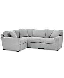 Radley Fabric 4-Pc. Sectional Sofa with Corner Piece, Created for Macy's