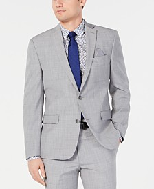 Bar III Men's Slim-Fit Stretch Light Gray Suit Jacket, Created for Macy's