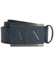A|X Armani Exchange Men's Plaque-Style Belt