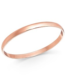 kate spade new york Rose Gold-Tone Polished Bangle Bracelet