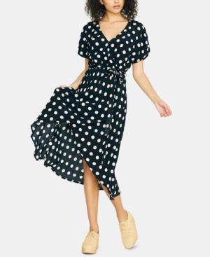 Sanctuary Dresses FAUX-WRAP MIDI DRESS