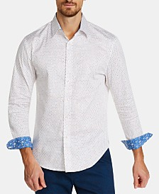 Tallia Men's Slim-Fit Multi-Dot Shirt