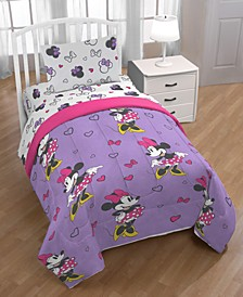 Minnie Mouse Purple Love Full 5-Pc. Bed in a Bag