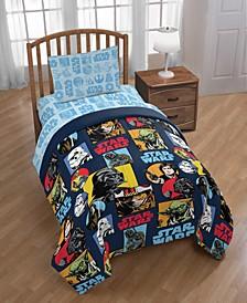 Galactic Grid Twin Comforter
