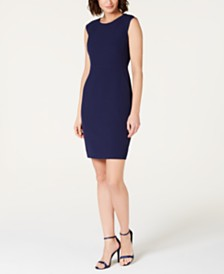 Anne Klein Extended-Shoulder Sheath Dress