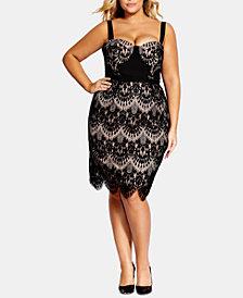 City Chic Trendy Plus Size Jolie Lace Dress