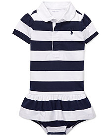 Polo Ralph Lauren Baby Girls Cotton Jersey Rugby Dress
