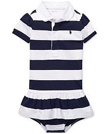 Polo Ralph Lauren Baby Girls Cotton Jersey Rugby Dress