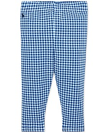 Polo Ralph Lauren Baby Girls Gingham Stretch Leggings