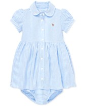 4ab7b7ecd3 Polo Ralph Lauren Baby Girls Striped Knit Oxford Dress