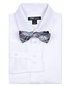 Tommy Hilfiger Big Boys Solid Stretch Shirt & Bowtie Set