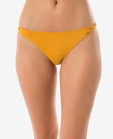 O'Neill Juniors' Salt Water Solids Twist Cheeky Bikini Bottoms