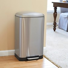 Household Essentials Stainless Steel 40L Crescent Step Trash Bin