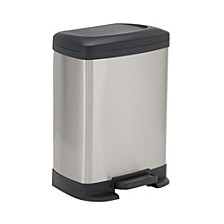 Stainless Steel 8L Saxony Rectangle Trash Can