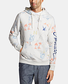 Nautica Men's Blue Sail Classic-Fit Limited-Edition Printed Logo Hoodie, Created for Macy's