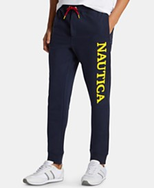 Nautica Men's Big & Tall Logo Graphic Joggers, Created for Macy's