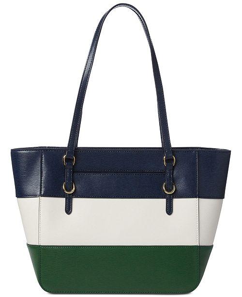 07435e922ac9 Lauren Ralph Lauren Bennington Saffiano Leather Shopper - Handbags ...