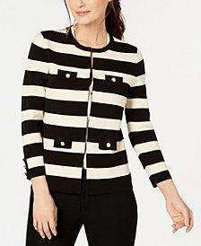 Anne Klein Striped Cardigan