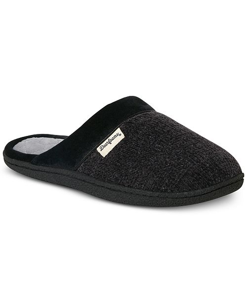 Dearfoams Women's Samantha Chenille Clog Slippers with Quilted Sock, Online Only