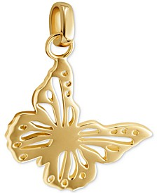 Gold-Tone Butterfly Charm