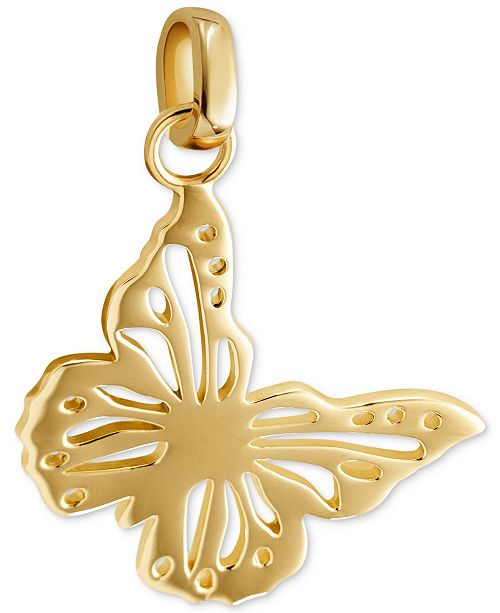 Michael Kors Gold-Tone Butterfly Charm
