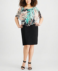 JM Collection Plus Size Convertible Sheath Dress, Created for Macy's