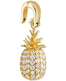Michael Kors Gold-Tone Pavé Pineapple Charm