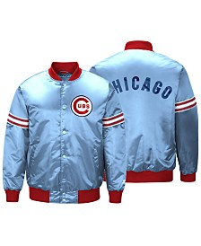 Starter Men's Chicago Cubs Coop Veteran Satin Jacket