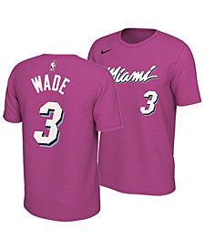 Nike Men's Dwyane Wade Miami Heat Earned Edition Player T-Shirt