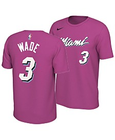 Nike Men's Dwyane Wade Miami Heat Earned Edition Player T-Shirt