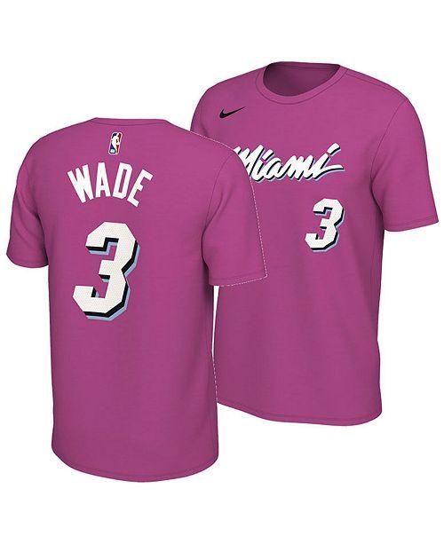 best website 03a7a a905c Nike Men's Dwyane Wade Miami Heat Earned Edition Player T ...