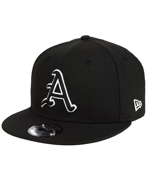 size 40 ed465 acb52 ... New Era Arkansas Razorbacks Black White Fashion 9FIFTY Snapback Cap ...