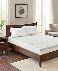 """2"""" Gel Memory Foam Queen Mattress Topper with Cooling Cover"""