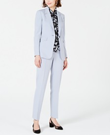 Bar III Single-Button Jacket, Bi-Stretch Pants & Bow-Neck Blouse, Created for Macy's