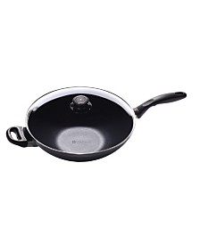 """Swiss Diamond HD Induction Wok with Lid and Rack - 11.8"""" , 4.9 QT"""