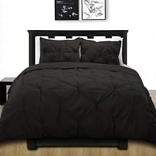 Cottonesque 100% Cotton Pintuck Duvet Cover Mini Set