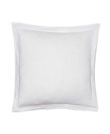 Home Washed Linen White Euro with Flange