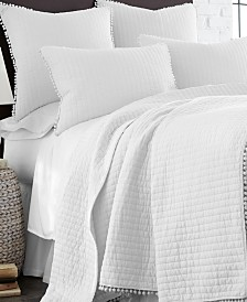 Levtex Home Pom Pom White King Quilt