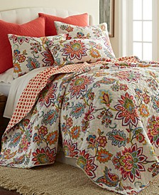 Home Palladium Coral King Quilt Set