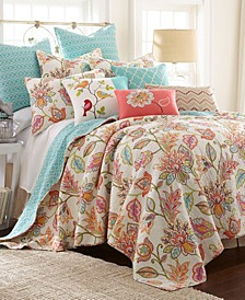 Sophia Floral Reversible Full/Queen Quilt Set