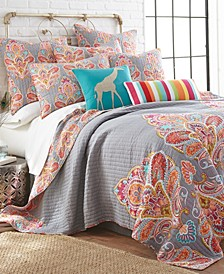 Home Tivoli Gray Full/Queen Quilt Set
